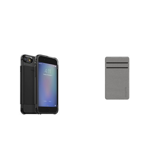 new concept 0e10c 754fa mophie Hold Force wrap Base Case for Apple iPhone 7 - Black and mophie Hold  force wallet - Gray bundle