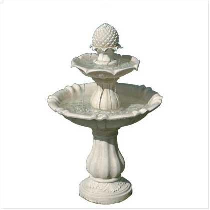 3 Tier Acorn Water Fountain - Fiberglass