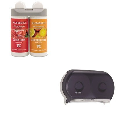 KITRCP3485952SJMR4000TBK - Value Kit - Rubbermaid Microburst Duet Refills (RCP3485952) and San Jamar Twin Roll Jumbo Tissue Dispenser (SJMR4000TBK)