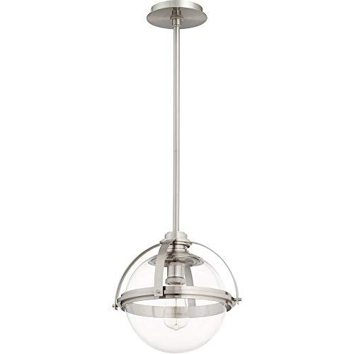 Quorum 88-13-65 Pendant, 1-Light, 60 Watts, Satin Nickel