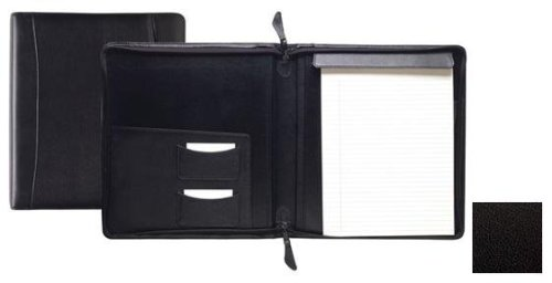 Raika TN 143 BLK Standard Zipper Writing Pad - Black by Raika