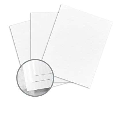 CLASSIC COLUMNS Recycled Bright White Paper - 8 1/2 x 11 in 24 lb Writing Linear Embossed 100% Recycled Watermarked 500 per Ream
