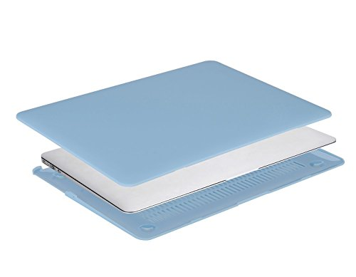 MOSISO Plastic Hard Shell Case & Keyboard Cover Skin Only Compatible with MacBook Air 11 inch (Models: A1370 & A1465), Airy Blue