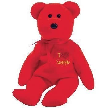 Amazon.com  TY Beanie Baby - SEATTLE the Bear (I love Seattle - Show ... 9f5b59524188