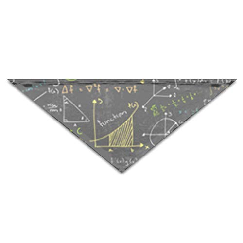 OLOSARO Dog Bandana Math Lessons Triangle Bibs Scarf Accessories for Dogs Cats Pets -