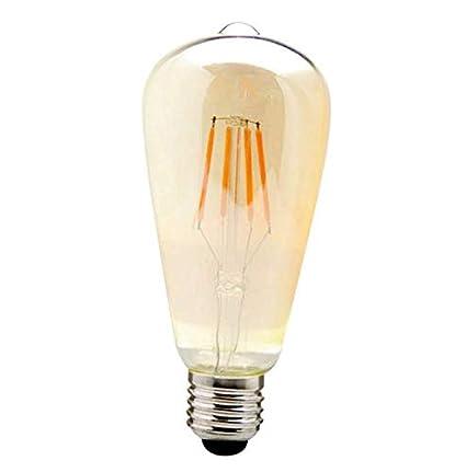 VDO 6 Pcs LED Bulb Edison Vintage E26 Antique Dimmable Filament Warm Lamp Light 6 Watt RK179