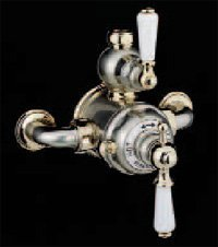 U.5550L-IB Exposed Thermostatic Shower Mixer with Lever Handles: Inca