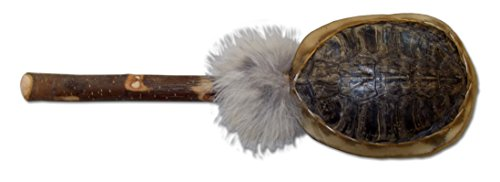 Native American Style Turtle Shell Rattle with Fur