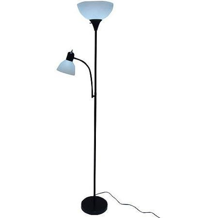 - Mainstays 72'' Combo Floor Lamp, Black