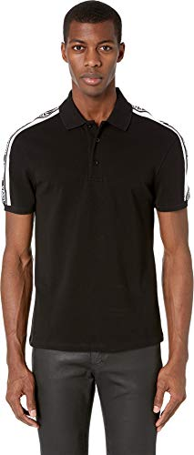 Versus Versace Men's Logo Stripe Polo Black/White ()