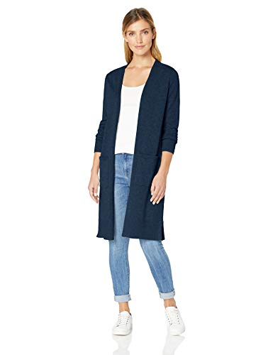 Amazon Bleu Longer Essentials Nav navy Length Cardigan qZ8FqA