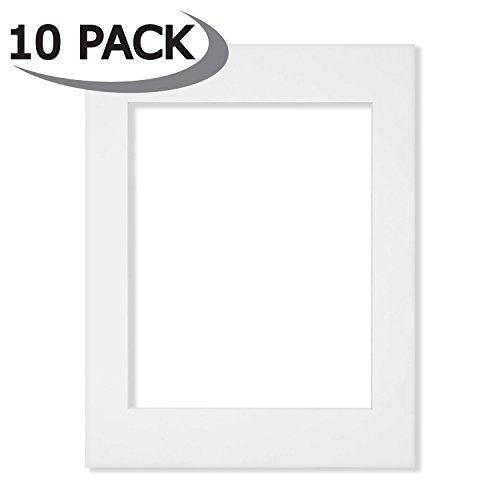 10 Pack of 11x14 White Picture Mats Core Bevel Cut for 8x10 Photos