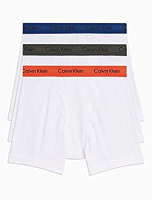 Calvin Klein Men's 3-Pack Cotton Stretch Boxer Briefs, Cacao(NU2666-161)/White (Medium)