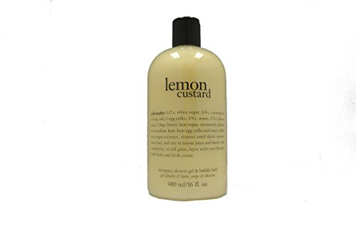Philosophy Lemon Custard Shampoo Shower Gel and Bubble Bath, 16 Oz.
