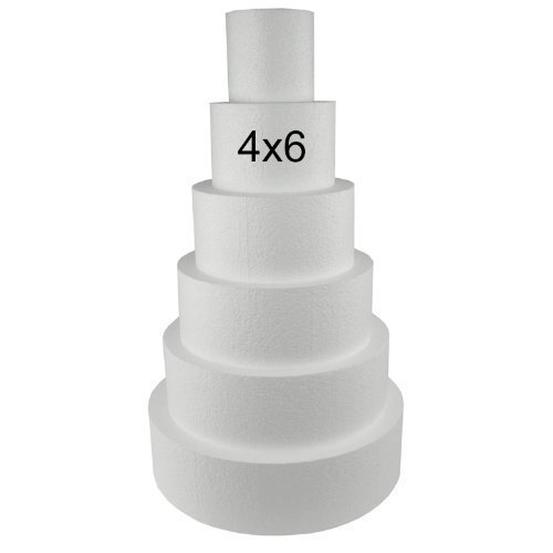 10.16cm//15.24cm//20.32cm Uteruik Round Cake Dummy 4// 6// 8