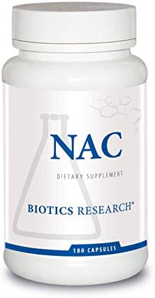 Biotics Research NAC N-Acetyl-L-Cysteine, 500 mg, Glutathione Production, Detoxification Support, Muscle Recovery, Healthy Lungs. 180 Caps