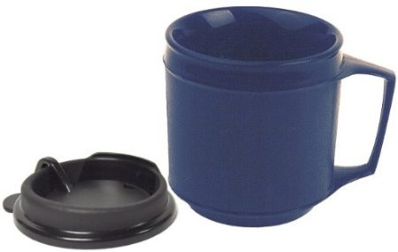 Kinsman Enterprises 16031 Non-Weighted Insulated Cup with No-Spill Lid, 8 oz., Blue by Kinsman Enterprises