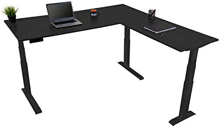 Triple Motor Electric L Shaped Desk/Standing Desk