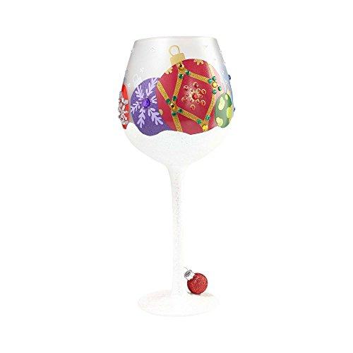 Lolita Seasonal Wine Glass with Westwood Gourmet Bottle Opener (Bling Snow Ornament) (Glass Ornament Wine Lolita)