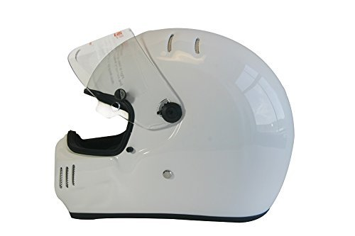 Small, Glossy Black Parent CRG Sports ATV Motocross Motorcycle Scooter Full-Face Fiberglass Helmet DOT Certified ATV-6