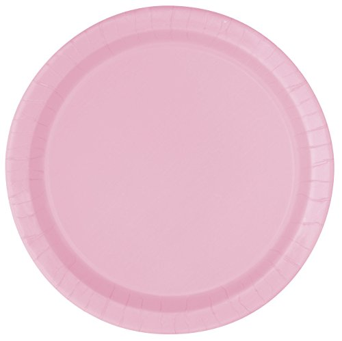 Light Pink Paper Plates 16ct