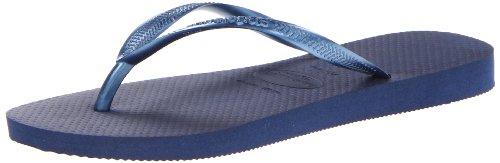 Havaianas Women's Slim Sandal,Navy Blue,37/38 BR (7-8 M US) (Slim Flop Sandals Flip)