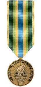 Medals of America Armed Forces Service Medal Miniature Bronze ()