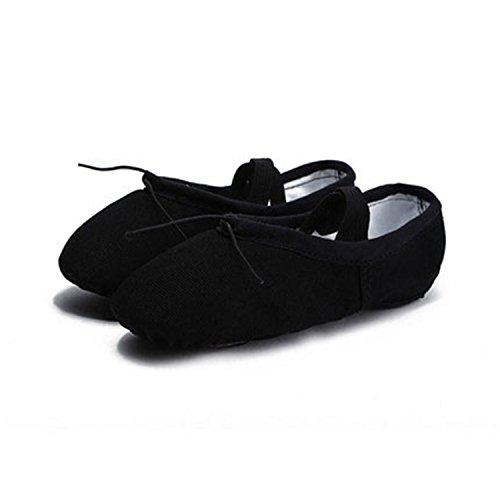 Better Annie Sale Child Girl Soft Split Sole Dance Ballet Shoe Cotton Comfortable Fitness Breathable Toddler Canvas Practice Gym Slipper Black Child Size 7