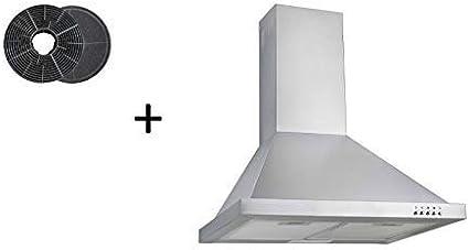 respekta CH22078IXB+MIZ0058 - Campana extractora (60 cm, incluye filtro de carbón activo): Amazon.es: Grandes electrodomésticos