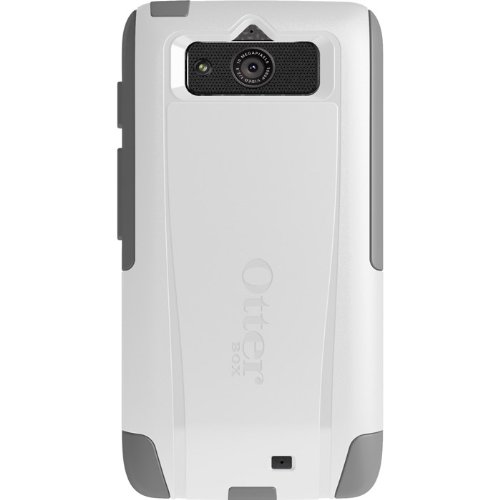 OtterBox Commuter Series Case for Motorola DROID Mini - Retail Packaging - White/Gray (Mini Motorola Droid Phone Case)