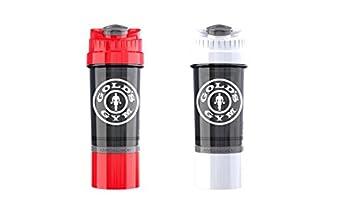 Golds Gym - Juego de 2 botellas de mezclador para batidora de vaso de ciclón,
