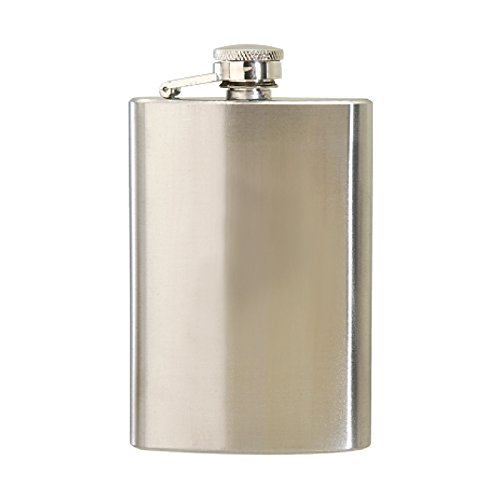 Thirsty Rhino Minum Stainless Steel Hip Flask (4 oz Tall, Brushed Stainless (4oz Liquor Flask)