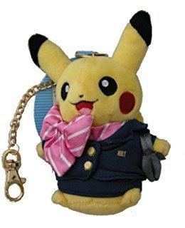 Mascot stuffed key chains CA Pikachu Pokemon store Shin Chitose Airport - Mascot Airport