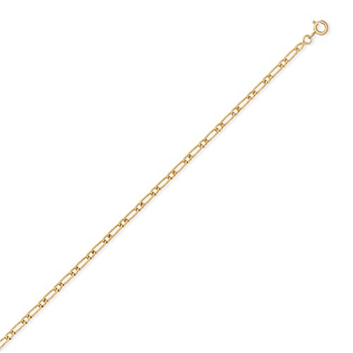 DIAMANTLY Collier or 750 goutte ovale alterne creux 2,4 mm 45 cm