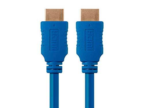 Monoprice 103944 Select Series High Speed HDMI Cable, 4K @ 60Hz, 10.2Gbps, 28AWG, 1.5ft, Blue ()