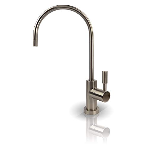 - APEC Water Systems FAUCET-CD-NP Kitchen Drinking Water Designer Faucet for Reverse Osmosis and Water Filtration Systems, Non-Air Gap Lead-Free, Brushed Nickel