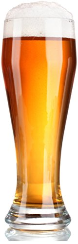 Circleware Downtown Pilsner Beer Set of 4, 19 Oz, Glassware Glass Tumbler Drinking Cups for Water, Juice, Whiskey, Wine & Cocktail Beverages