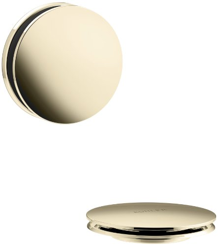 KOHLER K-T37395-AF PureFlo Cable Bath Drain Trim with Contemporary Push Button Handle, Vibrant French Gold