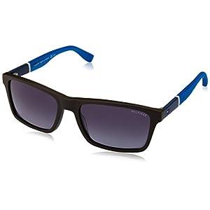 Tommy Hilfiger Th1405s Rectangular Sunglasses, Dark Brown Blue/Gray Gradient, 56 mm