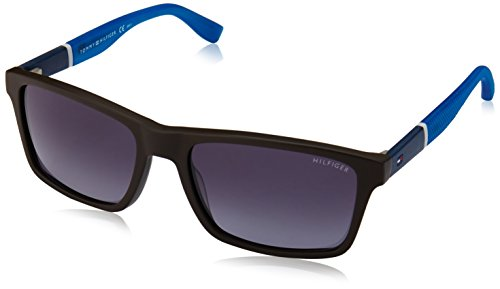Tommy Hilfiger Th1405s Rectangular Sunglasses, Dark Brown Blue/Gray Gradient, 56 - Gray Blue Gradient