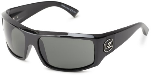 VonZipper Clutch Rectangular Sunglasses,Black Gloss,One - Zipper Von Clutch Sunglasses