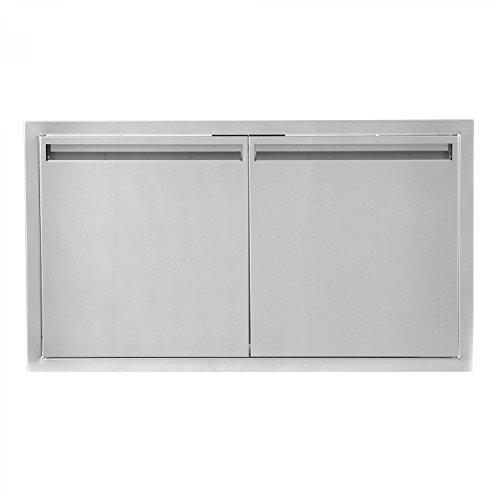 BBQGUYS Aspen Series 36-Inch Stainless Steel Double Access Door