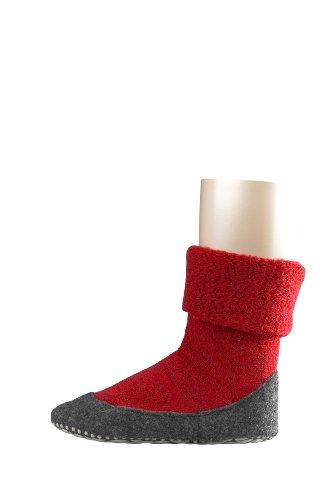 FALKE Unisex - Kinder Socken 10560 Cosyshoe Homeshoe, Gr. 33/34 ,rot (fire)