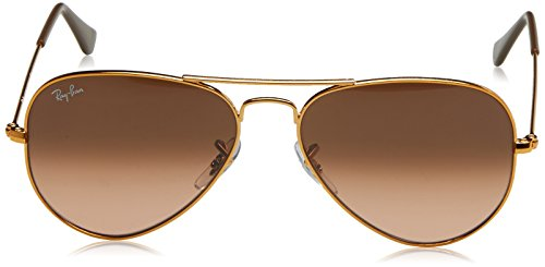 Ray-Ban Men's Large Metal Aviator Sunglasses, Shiny Light Bronze, 55 mm by Ray-Ban (Image #2)