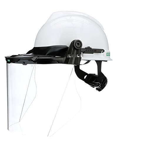 Hard Hat w/Faceshield Brckt, FRNT BRM, -