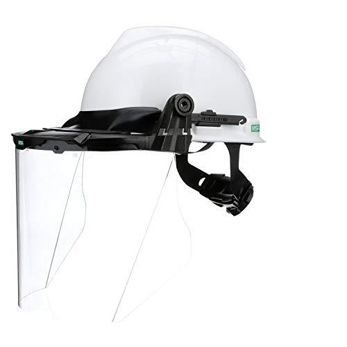 Hard Hat w/Faceshield Brckt, FRNT BRM, Wht (Hard Hat With Face Shield)