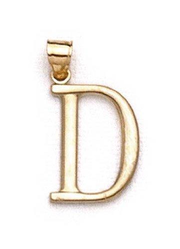 "D 14 Carats Pendentif initiale 1 3/8 ""longue JewelryWeb"