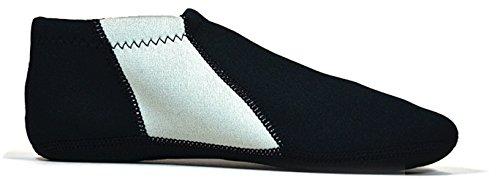 Nufoot Reise Tøffel Sokker (s - Svart Grå Stripe - Ekstra Stor)