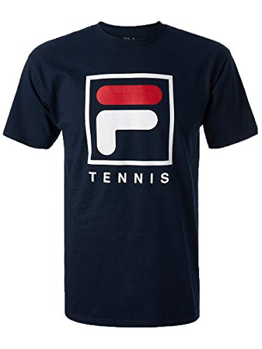 - Fila Men's F-Box Tennis Short Sleeve Crewneck T-Shirt (Medium, Peacoat)