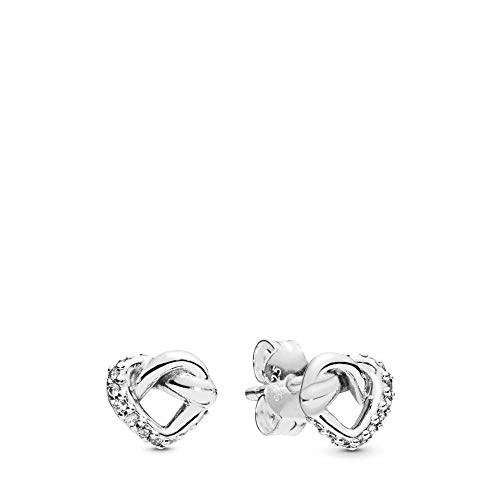 Pandora Knotted Heart Silver One Size Earring 298019CZ from PANDORA